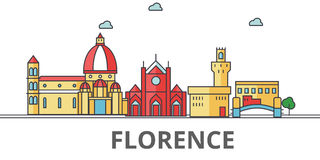 Horizon de ville de Florence illustration stock