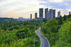 Horizon de ville de Guiyang Photographie stock libre de droits