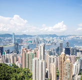 Horizon de ville de Hong Kong Images stock