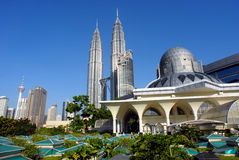 Horizon de ville de Kuala Lumpur image libre de droits