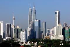 Horizon de ville de Kuala Lumpur Images libres de droits