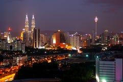 Horizon de ville de Kuala Lumpur Photos libres de droits
