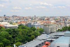 Horizon de ville de Madrid, Espagne Photographie stock