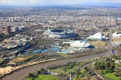 Horizon de ville de Melbourne Image libre de droits