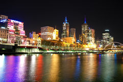 Horizon de ville de Melbourne images stock
