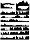 Horizon de ville, de mer et de lac Photos stock