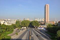 Horizon de ville de Nanjing, Chine Photographie stock libre de droits
