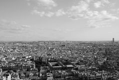 Horizon de ville de Paris dans le black&white Photo libre de droits