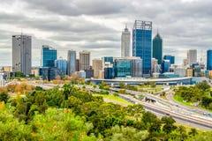 Horizon de ville de Perth Image stock