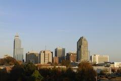 Horizon de ville de Raleigh la Caroline du Nord Photographie stock libre de droits