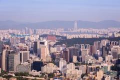 Horizon de ville de Séoul Photos libres de droits