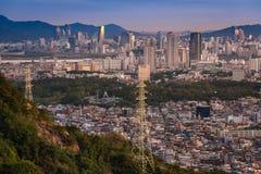 Horizon de ville de Séoul Image libre de droits
