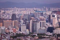 Horizon de ville de Séoul Photos stock