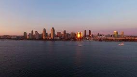 Horizon de ville de San Diego California banque de vidéos