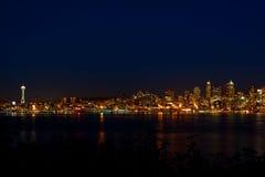 Horizon de ville de Seattle Image libre de droits