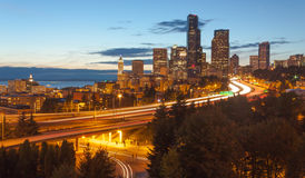 Horizon de ville de Seattle Photo stock