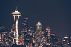 Horizon de ville de Seattle Photos libres de droits