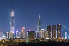 Horizon de ville de Shenzhen, Chine photographie stock libre de droits