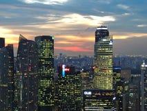 Horizon de ville de Singapour images libres de droits