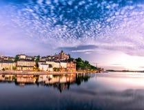 Horizon de ville de Stockholm Photographie stock