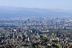 Horizon de ville de Taïpeh image libre de droits