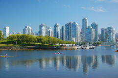 Horizon de ville de Vancouver Images libres de droits
