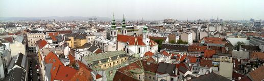 Horizon de ville de Vienne images libres de droits