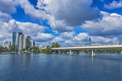 Horizon de ville de Vienne Donau Image libre de droits