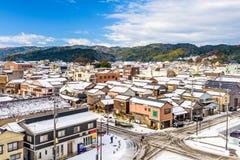 Horizon de ville de Wajima, Japon images libres de droits