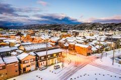 Horizon de ville de Wajima, Japon image stock