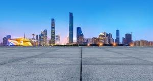 Horizon de ville de Guangzhou Photos libres de droits