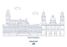 Horizon de ville de Montevideo, Uruguay illustration libre de droits