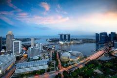 Horizon de ville de Singapour Image libre de droits