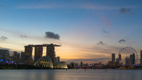Horizon de ville de Singapour Photo libre de droits