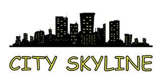 Horizon de ville Style plat illustration libre de droits