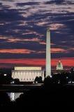 Horizon de Washington DC Images libres de droits
