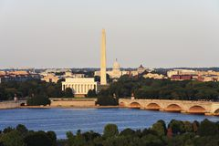 Horizon de Washington DC Photographie stock libre de droits