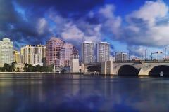 Horizon de West Palm Beach Photos libres de droits