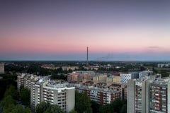 Horizon de Zagreb au lever de soleil Image libre de droits