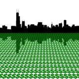 horizon des dollars de Chicago Photos libres de droits