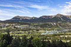 Horizon des les Alpes de Seyne Images libres de droits