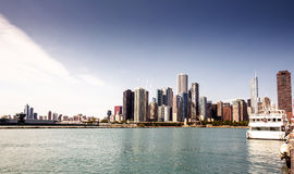Horizon du centre Chicago Photos stock