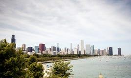 Horizon du centre Chicago Images libres de droits