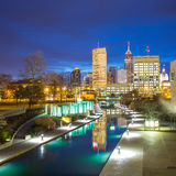 Horizon du centre d'Indianapolis image libre de droits