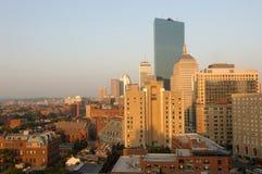 Horizon du centre de Boston Photos stock