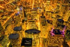 Horizon du centre de Chicago de vue supérieure aux Etats-Unis photos stock