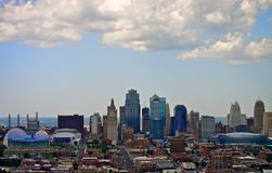 Horizon du centre de Kansas City Photo libre de droits