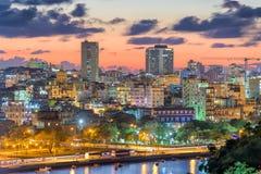 Horizon du centre de La Havane, Cuba images stock