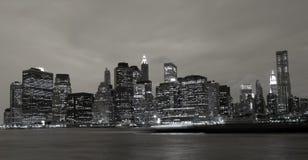 Horizon du centre de Manhattan Images libres de droits
