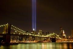 Horizon du centre de Manhattan Image libre de droits